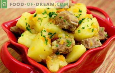 Duszone ziemniaki z wieprzowiną. Przepisy na wieprzowinę i ziemniaki na romantyczną kolację i obfity lunch