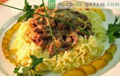 Jautienos stroganoff - geriausi receptai. Kaip tinkamai ir skaniai virti jautienos stroganoff.