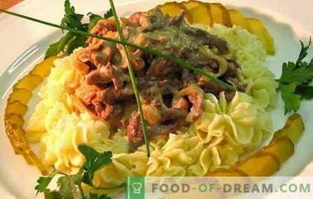 Stroganoff wołowy - najlepsze przepisy. Jak prawidłowo i smacznie gotować wołowinę stroganoff.
