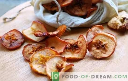 Suszone jabłka w piekarniku - na zawsze zachowujemy smak lata. Gotowanie suszonych jabłek w piekarniku z cynamonem, kardamonem, gałązkami wiśni