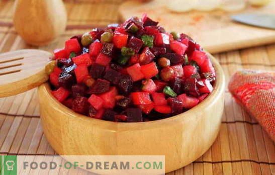 Sałatka jarzynowa - jedz witaminy! Przepisy na winegret warzywny: z fasolą, jabłkami, grzybami, kapustą