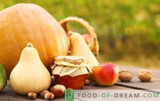 Dżem dyniowy z jabłkami - niezwykłe połączenie smaków. Klasyczne i egzotyczne opcje do gotowania dżemu dyniowego z jabłkami