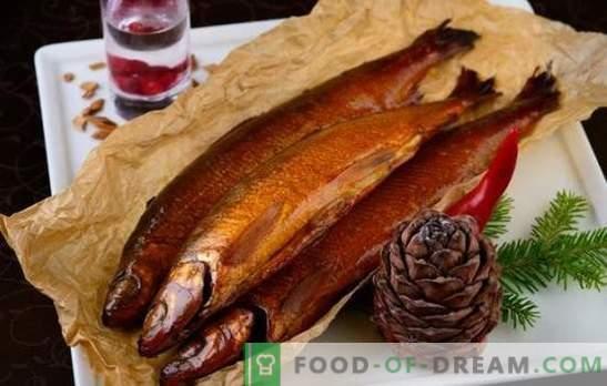 Nuty wina i cytrusów w marynatach wędzonych na gorąco. Gotowanie ryb i mięsa z marynatami wędzonymi na gorąco
