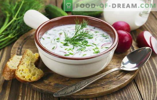 Okroshka, zupa z buraków i inne zupy na kefir, warzywa i mięso. Przepisy włoskie, hiszpańskie i rosyjskie na zupy na kefir