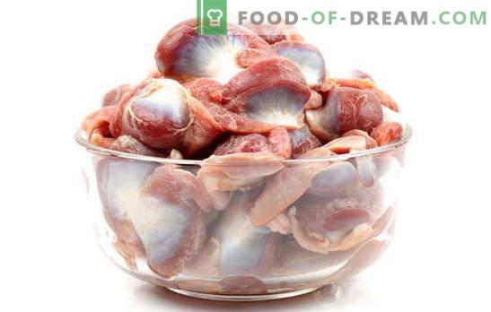 Ugotuj żołądki z kurczaka we wszystkich zasadach! Jak i ile gotować kurczęce żołądki w wodzie, na parze, w wolnej kuchence