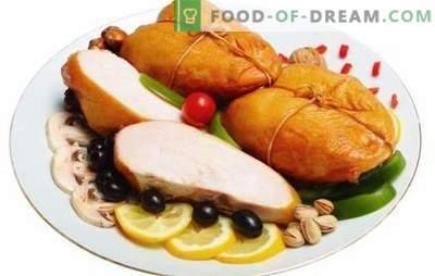 Mięso wędzone: mięso aromatyczne. Najlepsze przepisy na domowe wędzone piersi. Co możesz z nim gotować?
