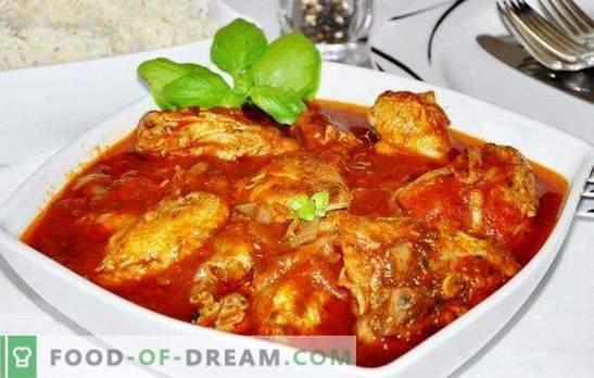 Kawałki kurczaka w wolnej kuchence - hojny talerz! Przepisy na gościnnego chakhokhbili z kurczaka w wolnej kuchence