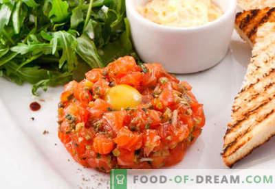 Tatar z łososia - najlepsze przepisy. Jak prawidłowo i smacznie gotować tatar z łososia.