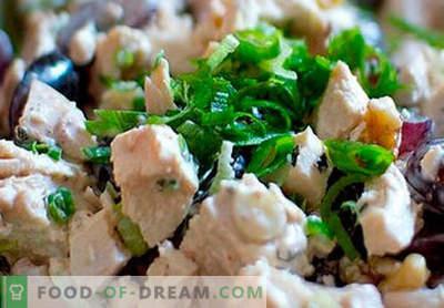 Sałatka z wędzonym kurczakiem - najlepsze przepisy. Jak prawidłowo i smacznie przygotować sałatkę z szynką wędzoną