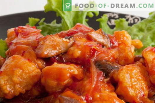 Kurczak w sosie słodko-kwaśnym - najlepsze przepisy. Jak prawidłowo i smacznie ugotować kurczaka w sosie słodko-kwaśnym.