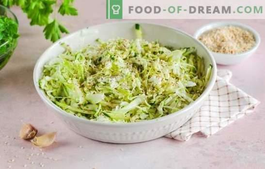 Jakie przyprawy są potrzebne do potraw z kapusty: pyszny gulasz, gotować, kwas chlebowy