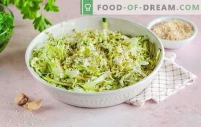 ¿Qué especias se necesitan para los platos de repollo: estofado delicioso, hervir, agrio