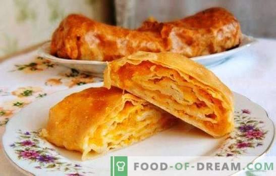 Moldavskaya Placinda - tortilla z nadzieniem lub ciastem? Przepisy mołdawska placinda z różnymi nadzieniami