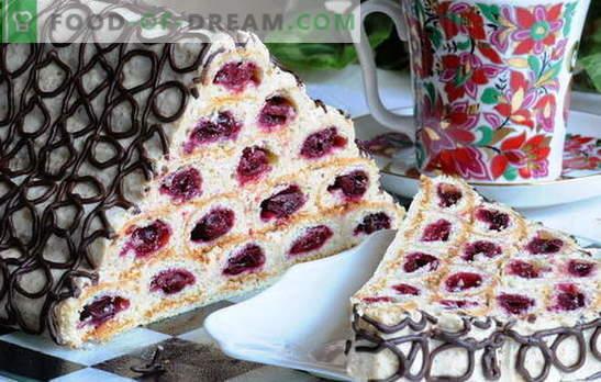 """Ciasto """"Chata klasztorna"""" z wiśniami i kwaśną śmietaną - piękno! Przepisy na ciasto do """"chaty klasztornej"""" z wiśniami i śmietaną"""
