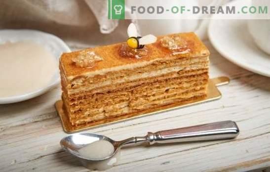 Ciasto miodowe: przepis krok po kroku ze zdjęciem ulubionego ciasta. Gotowanie w domu według przepisów krok po kroku ze zdjęciami delikatnego klasycznego lub orzechowego ciasta miodowego