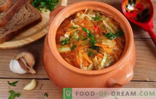 Zupa z kapusty Lean z kapusty kiszonej - przepisy kulinarne i tajemnice gotowania. Jak gotować pyszną chudą zupę z kiszonej kapusty
