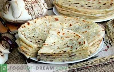 Кавказски Khychyny: чекор-по-чекор рецепти за тортиља со пополнување. Како да се готви сирење, месо, компир хихина (чекор по чекор)