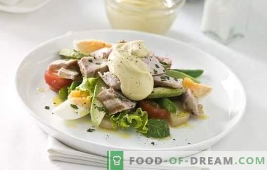 Sałatki z jajkiem i majonezem - obfita uczta. Oryginalne receptury ptysiowych i prostych mieszanych sałatek z jajkami i majonezem
