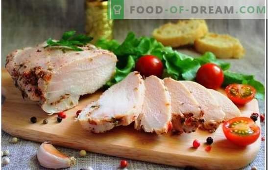 Pierś z kurczaka jest unikalnym składnikiem każdego posiłku. Jak gotować pierś z kurczaka: ile czasu trzeba gotować do ugotowania