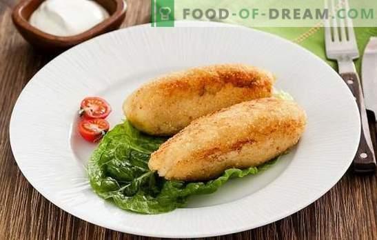 Zrazy fish - proste, zdrowe, smaczne danie. Przepisy na dania rybne z grzybami, jajkiem, serem, ogórkami kiszonymi