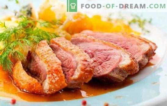 Duck Breast: przepisy na pieczone, pieczone, szarpane. Najsmaczniejsze opcje receptur piersi z kaczki przez kucharzy z Francji, Włoch i Rosji