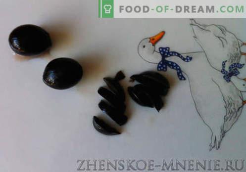 Sałatka z ciastkami z białej brzozy - przepis ze zdjęciami i opisem krok po kroku