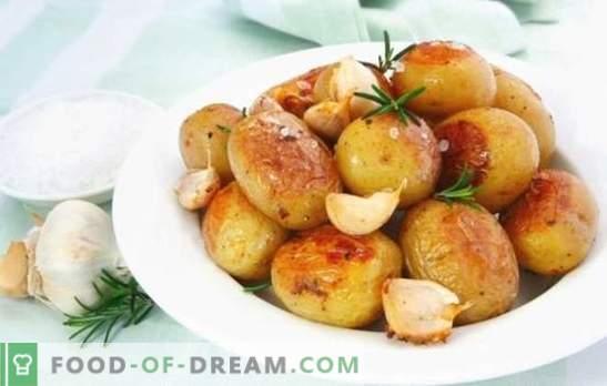 Ziemniaki z czosnkiem - zadowalające i zdrowe. Opcje gotowania dla wszystkich ulubionych ziemniaków z czosnkiem