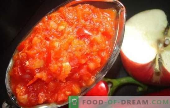 Adjika z jabłkami na zimę: sos słodko-kwaśny na każdą okazję. Najlepsze przepisy adjika na jabłka na zimę