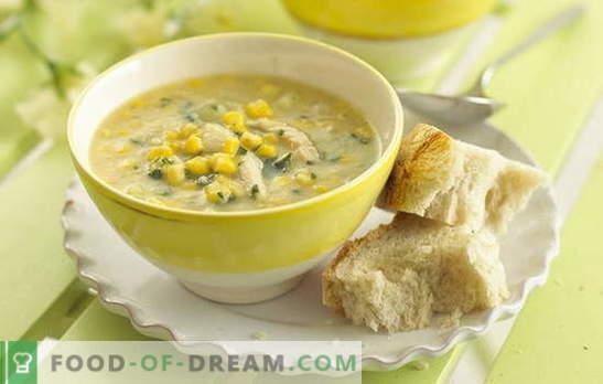 Zupa kukurydziana jest ulubionym składnikiem niezwykłego projektu. Ciekawe zupy w puszkach kukurydzy