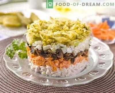 Salata de pui stratificat cu cele mai bune retete. Cum să gătești în mod corect și gustos salată de puf cu pui.