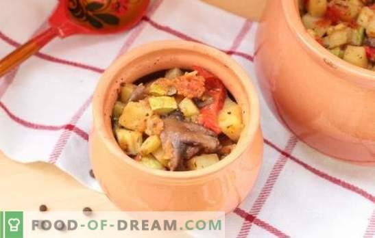 Gulasze w garnku piekarnika: przepisy i tajemnice. Jak gotować warzywa, mięso, gulasz grzybowy w doniczkach w piekarniku