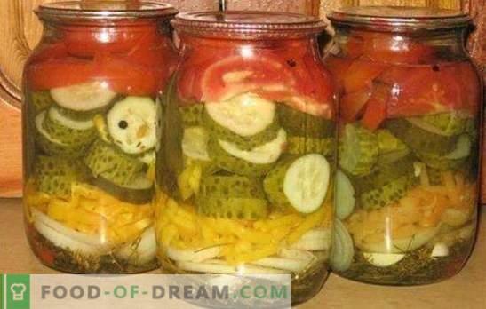 Sałatka z ogórków i pomidorów na zimę to zdrowy kompleks witamin. Klasyczne i oryginalne przepisy na sałatkę z ogórka i pomidorów na zimę