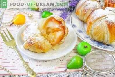 Jabłka w cieście francuskim, pieczone w piekarniku