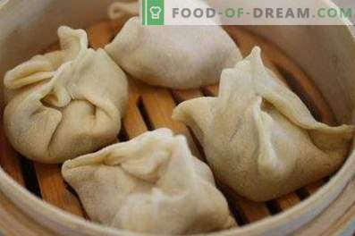 Dough for manti on kefir