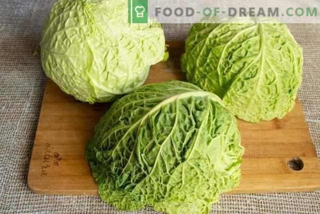 Steamed Vegetarian Cabbage Rolls z Savoy Cabbage