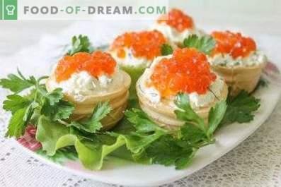 Törtchen mit Kaviar